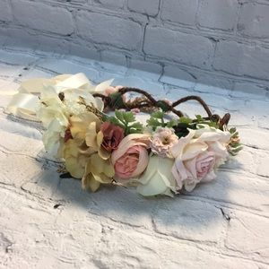 Other - Handmade flower girl wreath size 2 to 12 yrs old